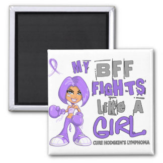 BFF Fights Like Girl H Lymphoma 42.9 Refrigerator Magnets