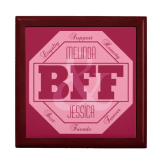 BFF Friendship - custom names - gift / jewelry box