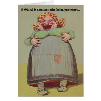 BFF fun playful humor LOL Lady Friendship Secrets Card