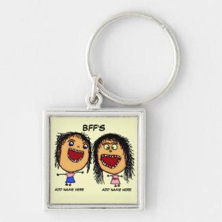 BFF Funny Cartoon Key Chains