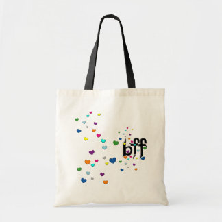 bff ~ hearts canvas bags