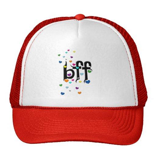 bff ~ hearts mesh hat