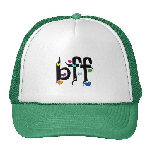bff ~ hearts mesh hats