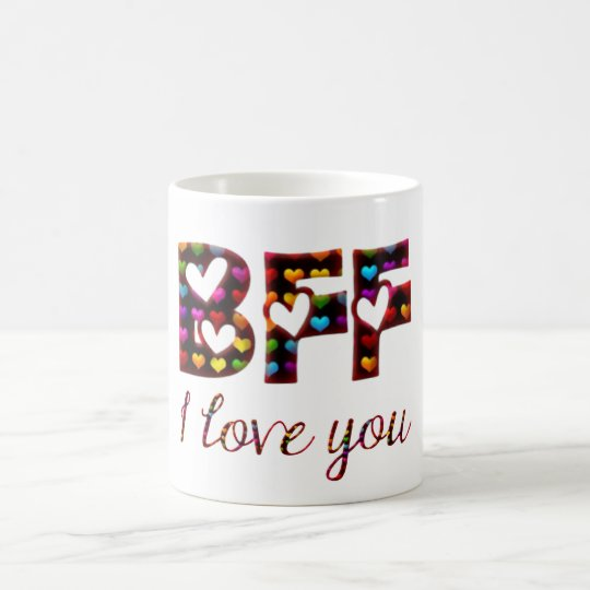 BFF I Love You Cute Hearts Typography Friendship