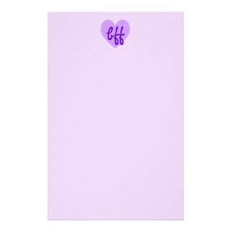 bff in Purple Stationery