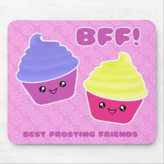 BFF Kawaii Cupcakes Mouse Mat