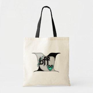 bff ~ lovebirds tote bags
