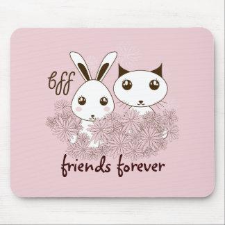 BFF - Original Girl Friendship Cute Animal Pink Mouse Pad