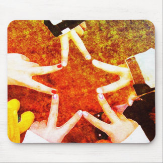 BFF Star Hands Mouse Pad