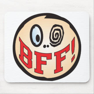 BFF Text Head Mouse Mat