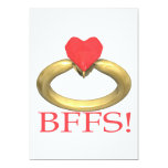 BFFS 13 CM X 18 CM INVITATION CARD