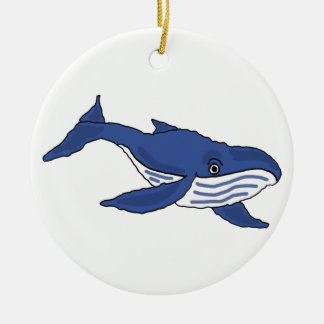 BG- Awesome Blue Whale Ornament