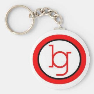 bg basic round button key ring
