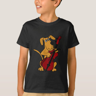 BG- Brown Puppy Dog Playing the Cello Tee Shirt