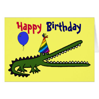 BG- Happy Birthday Crocodile Card