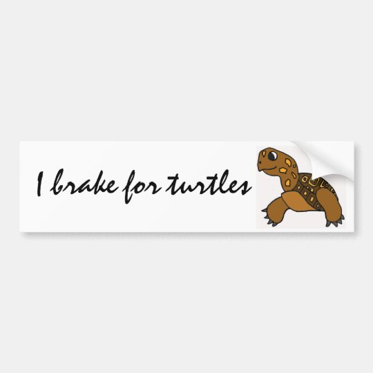BG- I brake for turtles stickers Bumper Sticker