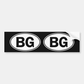 BG Oval ID Bumper Sticker