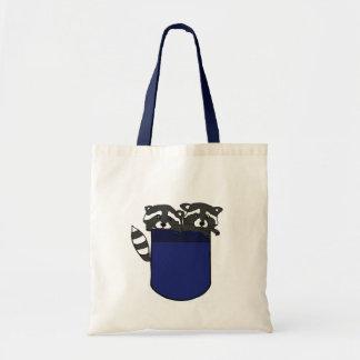 BG- Raccoons in a Pocket Bag