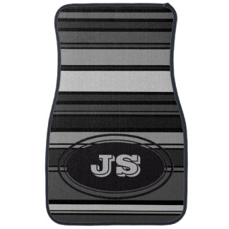 BG Stripes Pattern colored XI + your monogram Car Mat