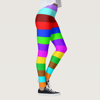 BG Stripes Pattern multicolored moved middle Leggings