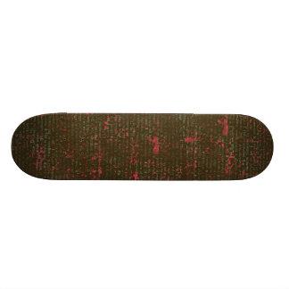 BGVPB DARK BROWN HOT PINK VINTAGE PAPER RUSTIC HIS SKATE BOARD DECK