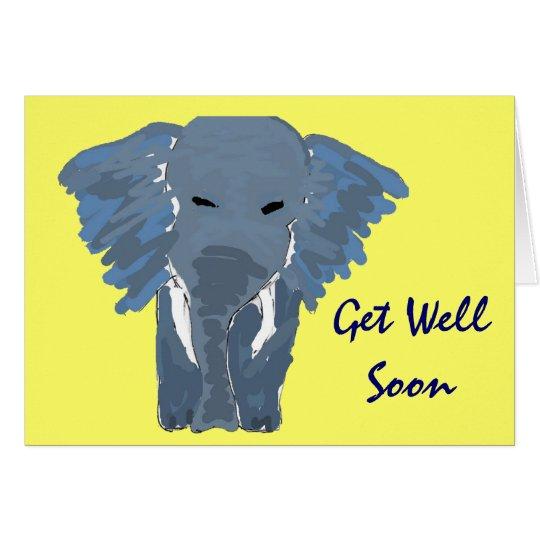 BH- Artistic Elephant Get Well Soon Card