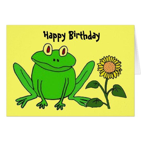 BH- Funny Frog Birthday Card