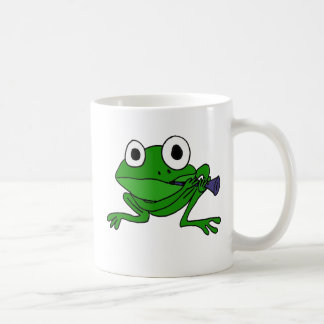BH- Funny Frog Playing Clarinet Coffee Mug