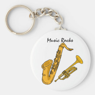 BH- Music Rocks Keychain