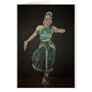 Bharatanatyam Dancer Card