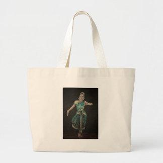 Bharatanatyam Dancer Large Tote Bag