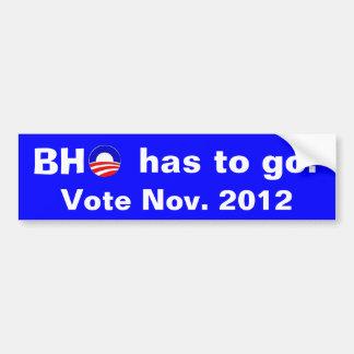 BHO s gotta go Bumper Sticker
