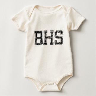 BHS High School - Vintage, Distressed Baby Bodysuits