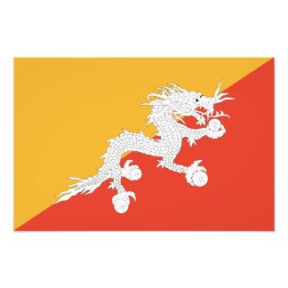 Bhutan - Bhutanese Flag Art Photo
