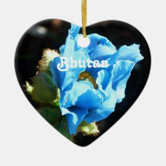 Bhutan Blue Poppy Christmas Ornament