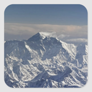 BHUTAN. Eternal snow on the Everest Mountain, Square Sticker