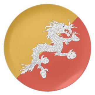 Bhutan Fisheye Flag Plate