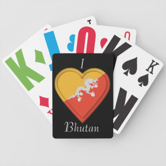 Bhutan flag bicycle playing cards
