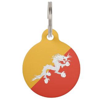 Bhutan Flag Pet ID Tag