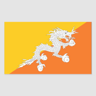 Bhutan Flag Rectangular Sticker