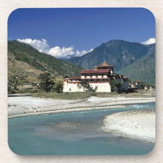 Bhutan, Punaka. The Mo Chhu River flows past Beverage Coasters