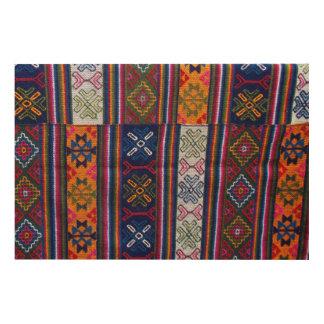 Bhutanese Textile Wood Wall Art