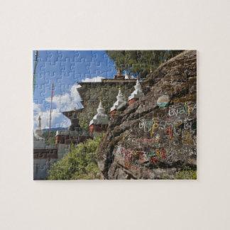 Bhutanese writing on rocks and Nepalese chortens Puzzle