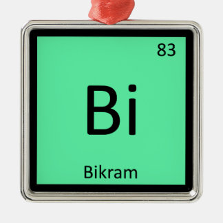 Bi - Bikram Yoga Chemistry Periodic Table Symbol Christmas Ornament