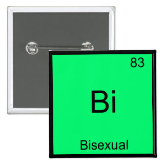 Bi - Bisexual Chemistry Element Symbol Funny 15 Cm Square Badge