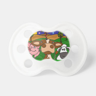 BI- Farm Animals Art Baby Pacifier