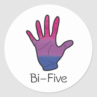 Bi-Five Sticker