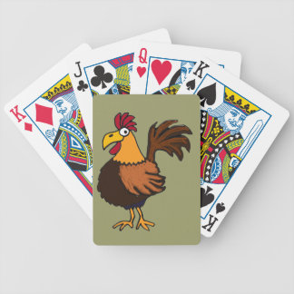 BI- Funky Rooster Playing Cards