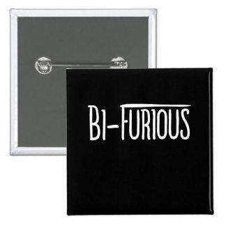 BI Furious bisexual humor 15 Cm Square Badge