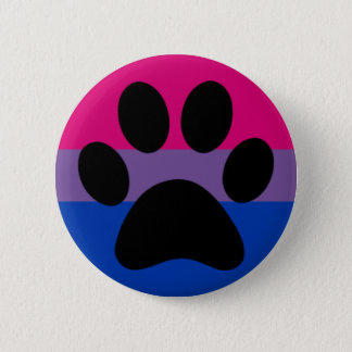 Bi furry pride 6 cm round badge